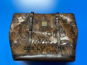 Dooney & Bourke 🏰 Disney Parks Cognac Leather Sketch 🐭 Shopper Tote