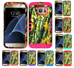 KoolKase Hybrid Silicone Cover Case for Samsung Galaxy S7 - Camo Mossy 08