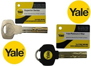 Yale Superior Key & Yale Platinum Keys Cut To Code From Card Number Free Postage