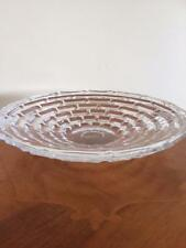 LARGE HEAVY QUALITY  CRYSTAL GLASS ROUND FRUIT PLATTER BOWL TABLE DECORATION