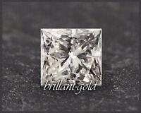 Natürlicher Diamant, Prinzess Schliff 0,44 ct mit Zertifikat, unbehandelt & echt