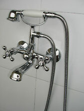 VICTORIAN TRADITIONAL WALL MNT'D BATH SHOWER MIXER TAPS LOW HIGH PRESSURE 019N2