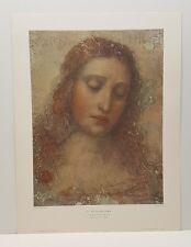 The Redeemer Leonardo da Vinci Vintage Lithograph Art Print