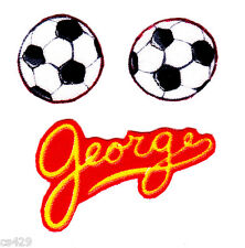 CURIOUS GEORGE MONKEY SPORTS SOCCERBALL BALL  SET  FABRIC APPLIQUE SET IRON ON