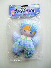* poupée chiffon vintage MUNDIA bébé fleur doudou grelot/peluche LES TOUFOUS