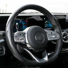 Universal Carbon Fiber Look Car Steering Wheel Booster Non-Slip Cover Accessory