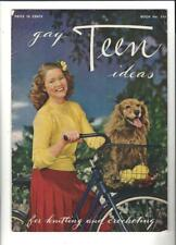 GAY TEEN IDEAS for Knitting & Crocheting 1944 Spool Cotton Company Booklet #213