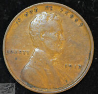 1917 P Lincoln Wheat Cent, Penny, Very Fine Condition Free Shipping in USA C4854