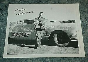 NASCAR Herb Thomas 8x10 autographed paper photo