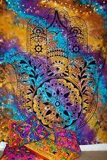 GRANDE Arazzo Indiano Mandala wallhanging Buttare Letto arazzi Mano Fatima