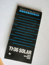 Ti-36 Solar Calculator Quick Reference Quide Texas Instruments Scientific 1985