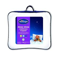 Matress Topper Silentnight Deep Sleep Double White Mattress Topper Washable