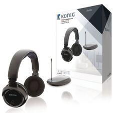 Kabelloser Funkkopfhörer bis zu 80m Reichweite Kopfhörer für TV PC RADIO MP3