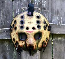 Jason Voorhees Half Mask Bloody No Cracks Custom Hand Made  Design 4