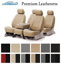 Coverking Custom Seat Covers Premium Leatherette Front and Rear Row - 12 Colors