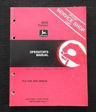 Genuine 198182 John Deere 8850 Tractor Operators Manual Before Ser 006501
