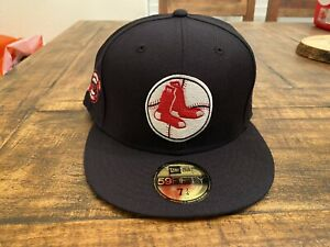 Boston Red Sox 1961-1969 Fenway Park Side Patch New Era Fitted Hat 7 3/4
