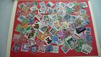 1967  - lot 100 timbres seconds USA