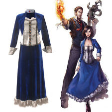 BioShock Infinite Elizabeth Costume Cosplay Lolita Vestito Gonna Uniforme Party