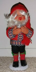 "Vintage Arne Hasle Norwegian Troll Christmas Elf Gnome Doll w Stand 11"""