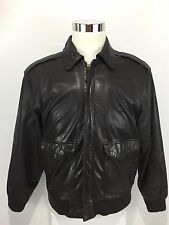 Flight Jacket Men's Small Genuine Leather Brown Durkee's Express Vintage Rare