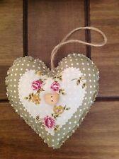 Handmade Shabby Chic Da Appendere Amore Cuore/cuore imbottito
