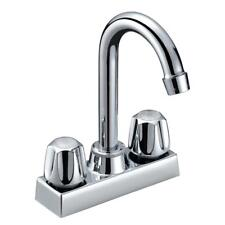 Aqua Plumb Two Handle Gooseneck Bar Faucet 1822020 Brilliant Chrome Finish