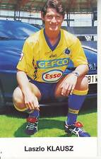 FOOTBALL carte joueur LASZLO KLAUSZ équipe FC SOCHAUX  signée