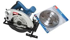 HEAVY DUTY HILKA 1200W 185MM TCT CIRCULAR SAW CUTTING SAW & 4 BLADES 240V