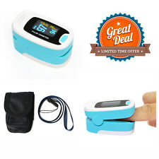 Pulse Oximeter spo2 monitor  Pulse rate BLOOD Oxygen oxymeter oxymètre sky blue
