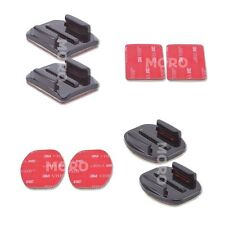 4 Pack Curved and Flat Adhesive Mounts 3M Sticky For GoPro Hero 4,3+,3 2 Cameras