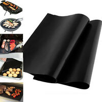 2PCS Reusable BBQ Grill Mat Non-Stick Heat Resistant Grilling Mats Barbecue Pads