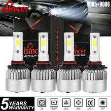 Combo 9005 9006 LED Headlight Kit Fit for Chevy Silverado Tahoe 99-06 Hi/Lo Beam