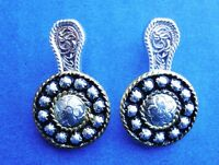 Western Cowgirl Jewelry Bright Silver ~Flower~ Concho Post Earrings Kit