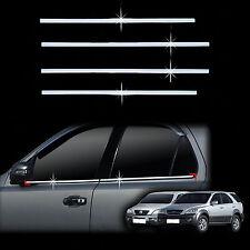 Chrome Door Window Sill Belt Molding Trim Cover for 03-06 Sorento