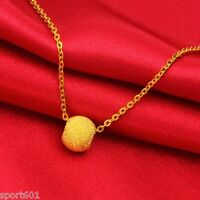 RECOMMEND New Pure 999 24K Yellow Gold / Lucky Bead Pendant / 0.58g