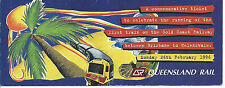 1996 Monday 26th Feb Special Ticket Gold Coast Railway Brisbane to Helensvale