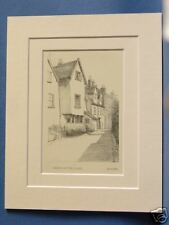 NORFOLK NORWICH HOUSES IN THE CLOSE 1925 VINTAGE PRINT
