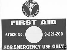 first aid pochoir , jeep , dodge