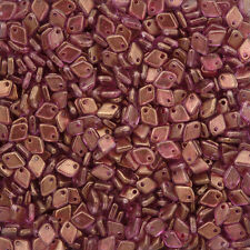 Czech Dragon® Scale Glass Beads 5mm Crystal GT Persian Pink 9g (M36/5)