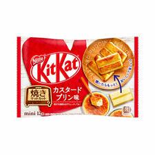 JAPANESE NESTLE KIT-KAT CUSTARD PUDDING WAFFER SNACK 12 MINI BARS USA SELLER