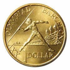 1992 Barcelona $1 Australian $1 coin Ex mint set UNC Rare 1992
