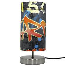 Graffiti Lamp Boys Bedroom Bedside Table Desk Night Light Skate Park Gifts Black