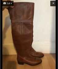 Dune Over The Knee Brown Boots 37 (UK 4)