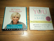 AB04 Mother Audiobooks You Having a Baby Dr. Oz AND Dr. Laura Schlessinger