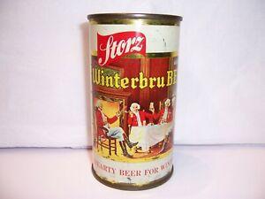 1955 Storz Winterbru Flat Top Beer Can Brewed in Omaha, NE  Bottom Opened