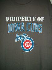 Minor League Triple A Property of Iowa Cubs Baseball Adult XL T-Shirt