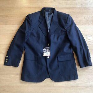 Tact Squad 8000 Men Textured Woven Uniform Blazer Sport Coat Jacket Navy 38S