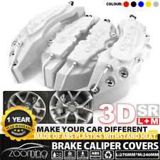"3D Universal Style Disc Brake Caliper Cover front and rear 4pcs Silver 10.5"" LW2"