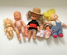 7 retro mixed baby doll lot small older dolls craft doll making supplies
